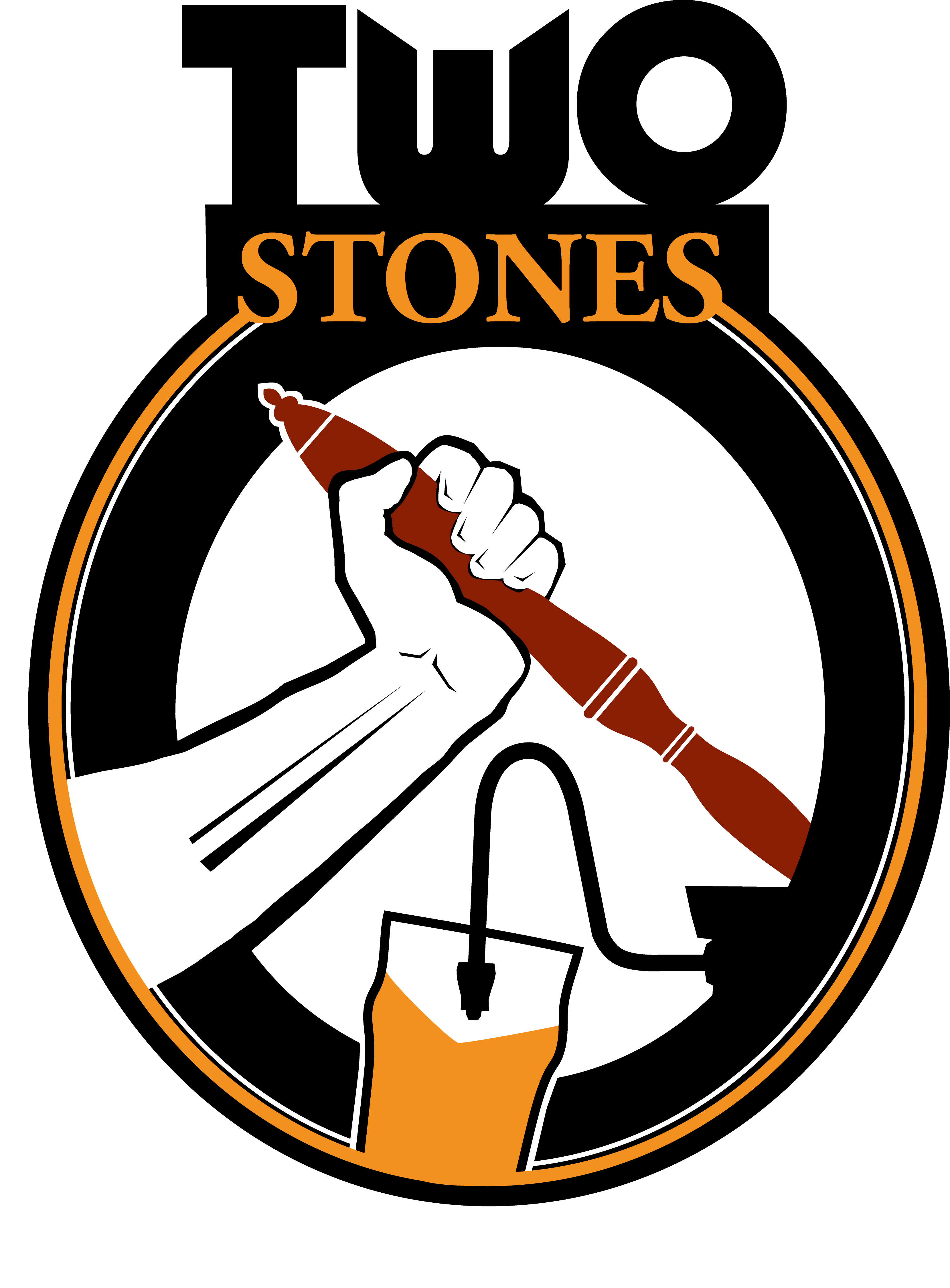 Two Stones Pub Logo Versions for all uses