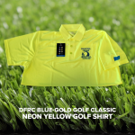 Blue-Gold Neon Golf Shirt